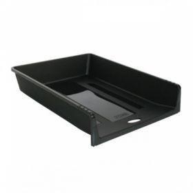 Лоток для бумаг горизонтальный СТАММ 1 В 1 из черного пластика