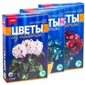 Цветы из пайеток в ассортименте