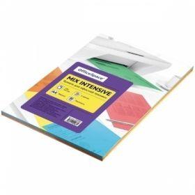 Офисная бумага А4 OfficeSpace intensive mix, 5 цветов, 100 листов