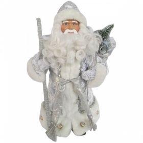 "Декоративная кукла ""Дед Мороз"" 30 см, серебряный"