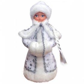 "Декоративная кукла ""Снегурочка под елку"" 35 см, белая"