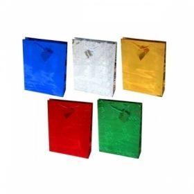 Пакет подарочный голографический, размер L, в ассортименте
