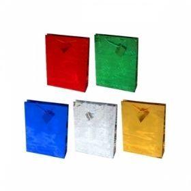 Пакет подарочный голографический, размер М, в ассортименте