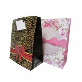 """Пакет подарочный ламинированный """"Бантики"""", размер L, в ассортименте"""
