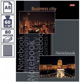 "Бизнес-блокнот А5 ""Business city"" 80 листов, 5-ти цветный блок"