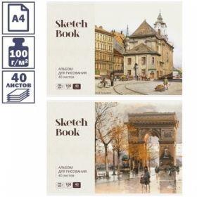 Альбом для рисования А4 Скетчбук. Акварельный пейзаж 40 листов