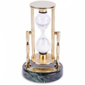 Часы песочные на 3 мин., зеленый мрамор