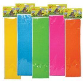 Бумага цветная крепированная флуорисцентная Каляка-Маляка 50х250 см в ассортименте