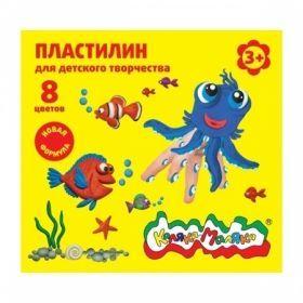 Пластилин Каляка-Маляка для детского творчества 8 цветов 120 г, со стеком