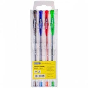 Набор гелевых ручек OfficeSpace 1 мм, 4 цвета