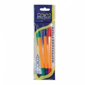 Набор шариковых ручек ШКОЛЬНИК 0,7 мм, 3 цвета