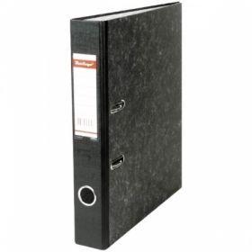 Папка-регистратор Berlingo А4 50 мм, мрамор черная