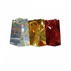 Пакет подарочный голографический, размер S, 3 цвета