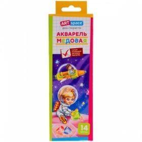 """Краски акварельные медовые 14 цветов """"ArtSpace"""" без кисти в картонной упаковке"""