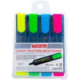 Набор текстовыделителей Berlingo 1-5 мм, 4 цвета