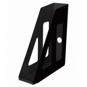 Лоток вертикальный СТАММ АКТИВ из черного пластика 70 мм