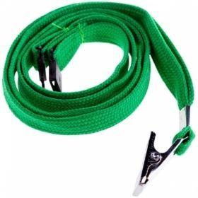 Набор зеленых шнурков для бейджей с клипсой, 45 см