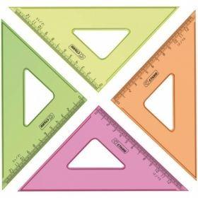 Треугольник 45°/12 см прозрачный флуоресцентный, ассорти