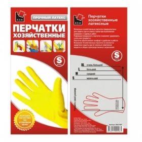 Перчатки хозяйственные латексные желтые A.D.M.