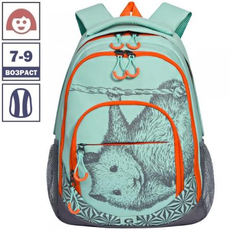 Рюкзак Grizzly 31х42х20 см, 2 отделения