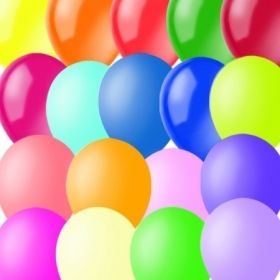 Воздушные шары M9/23см, пастель+декоратор, ассорти, 100 шт