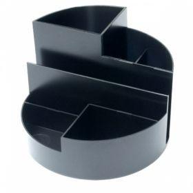 Подставка для канцтоваров СТАММ ПРОФИ черная 6 отделений