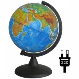 """Глобус физико-политический """"Глобусный мир"""" 21 см с подсветкой на круглой подставке"""