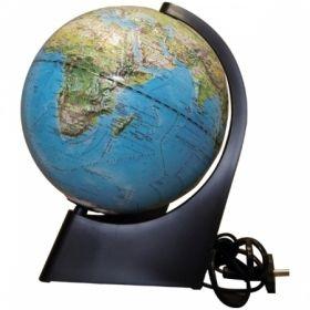 """Глобус физико-политический рельефный """"Глобусный мир"""" 21 см с подсветкой на треугольной подставке"""