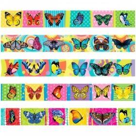"""Закладка-магнит для книг """"Бабочки"""" 25х200 мм"""
