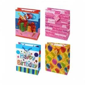"""Пакет подарочный ламинированный """"День Рождения"""", размер L, в ассортименте"""