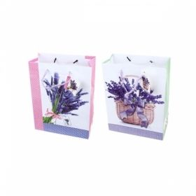 """Пакет подарочный ламинированный """"Цветы"""", размер L, в ассортименте"""
