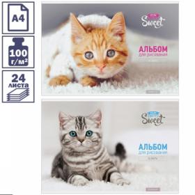 "Альбом для рисования А4 ""Питомцы. Pretty sweet"" 24 листа"