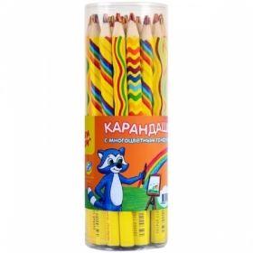 "Карандаш ""Енот и радуга"" с многоцветным грифелем"