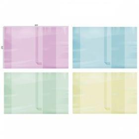 Обложка для учебников и контурных карт цветная с закладкой 270х420 мм 200 мкм
