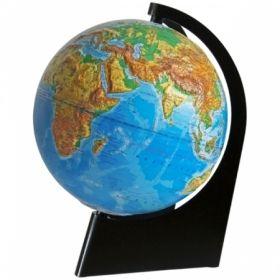 """Глобус физический рельефный """"Глобусный мир"""" 21 см на треугольной подставке"""