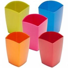 """Подставка-стакан Стамм """"Люкс. Gloss"""" квадратный в ассортименте"""