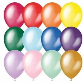 Воздушные шары М9/23 см металл, ассорти, 100 шт.