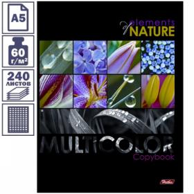 """Тетрадь А5 в клетку на кольцах Multicolor"""", 240 листов (3 блока)"""""""