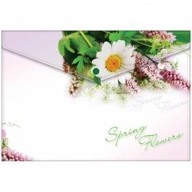 "Папка-конверт на кнопке А4 Berlingo ""Spring Flowers"", 180 мкм"