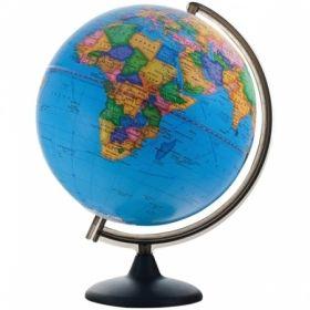Глобус политический рельефный Глобусный мир, 32 см, на круглой подставке