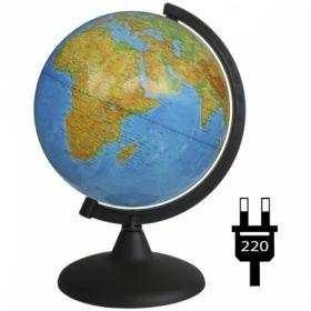 Глобус физический Глобусный мир, 21 см, с подсветкой на круглой подставке