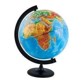 Глобус физический Глобусный мир, 32 см, с подсветкой на круглой подставке