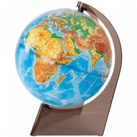 Глобус физический рельефный Глобусный мир, 21 см, на треугольной подставке