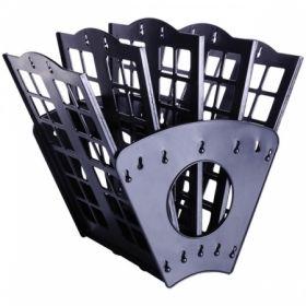 Лоток для бумаг веерный Berlingo, 5-ти секционный черный