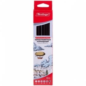 Набор карандашей чернографитных Berlingo, 6 шт, 2H-2B, заточенные в картонной упаковке с европодвесом