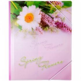"""Папка на резинке Berlingo """"Spring Flowers"""" А4 550 мкм в ассортименте"""
