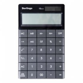 """Калькулятор настольный Berlingo """"Power TX"""" 12 разрядов, антрацит"""