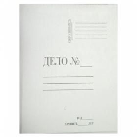 Папка-обложка А4 ДЕЛО №, картонная белая 280гр/м2