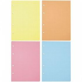 Сменный блок OfficeSpace для тетради на кольцах формата А5, 200 листов, 4 цвета