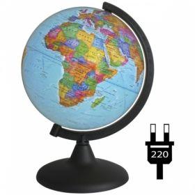 Глобус политический Глобусный мир, 21 см, с подсветкой на круглой подставке